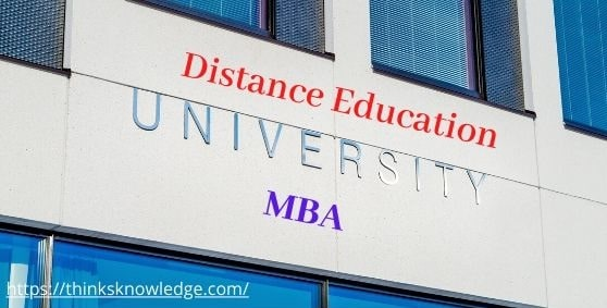 Distance education university for mba
