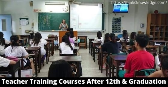 Teacher Training Course After 12th
