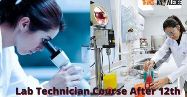 Lab Technician Course After 12th